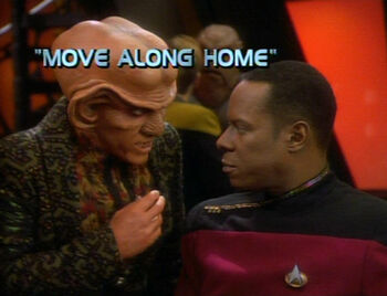 Move Along Home title card