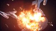 ISS Avenger explodes