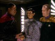 Sisko stellt T'Rul und Eddington vor