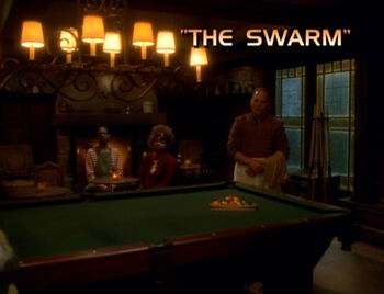 The Swarm title card