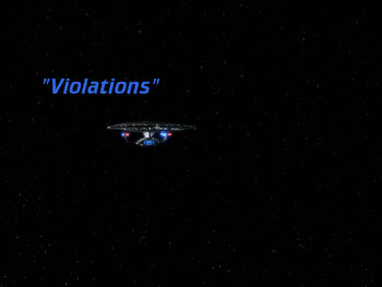 Violations title card
