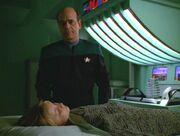 Der Doktor am Krankenbett von Belle