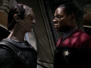 Dukat und Sisko wollen Krieg verhindern