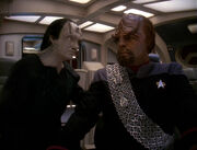 Elim Garak and Worf, 2373