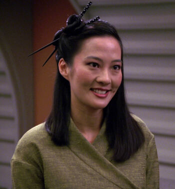 "Keiko Ishikawa in <a href=""/wiki/2367"" title=""2367"">2367</a>"