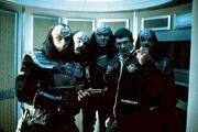 Leonard Nimoy with Klingons