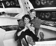 Majel Barrett et Gene Roddenberry