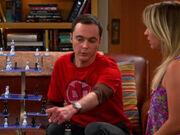 Sheldon und Penny spielen dreidimensionales Schach