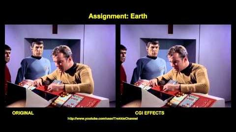 """TOS """"Assignment Earth"""" - """"Mission Terre"""" - comparaison des effets spéciaux"""
