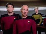 Picard telling a lie