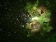 Borg Queen's vessel exploding
