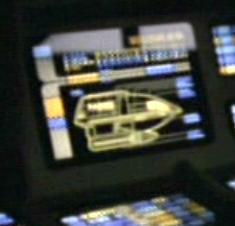Systems display from interior of shuttlecraft <i>Drake</i> in 2372