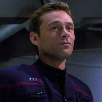 """Commander Charles """"Trip"""" Tucker in <a href=""""/wiki/2151"""" title=""""2151"""">2151</a>"""