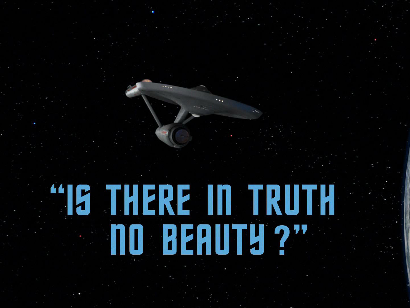 Image result for star trek Is There in Truth No Beauty?