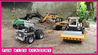 Construction Vehicles Toys Excavators LIEBHERR & CAT Rescue Truck Trucks for kids