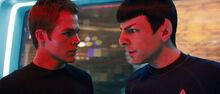 James T. Kirk and Spock discuss Nero's Fate
