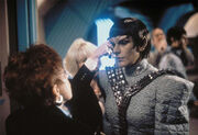 Sirtis in Romulan makeup
