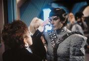 Sirtis in Romulan makeup
