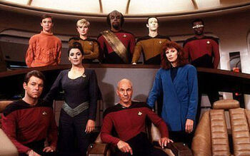 "The cast in <a href=""/wiki/TNG_Season_1"" title=""TNG Season 1"">Season 1</a>"