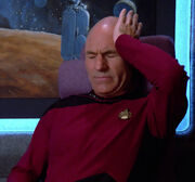 Picard suffering from a headache
