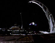 Runabout leaving DS9-2