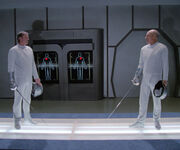 Enterprise-D fencing room, 2364