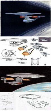 Galaxy class USS Enterprise-D initial design process