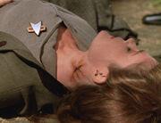 Janeway, neck burn