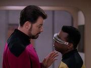 Riker rät La Forge sich von Uhnari zu trennen