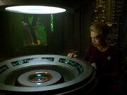 Transwarpspule wird aus Borg-Sphäre gebeamt