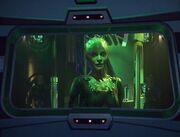 Die Borg-Königin bietet der Voyager die Heimreise an