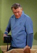 Mark Piper in lab coat