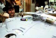 Miranda class studio model with battle damaged rol bar applied