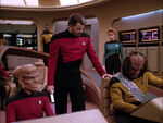 Riker, Enterprise bridge, Barash reality