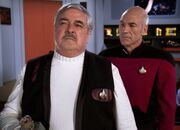 Scotty and Picard, holodeck