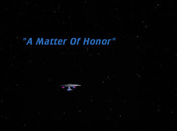 A Matter Of Honor title card