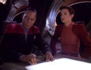 Benjamin Sisko and Kira Nerys, 2371