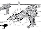 Klingon Battleship concept art