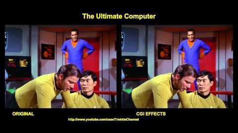 """TOS """"The Ultimate Computer"""" - """"Unité multitronique"""" - comparaison des effets spéciaux"""
