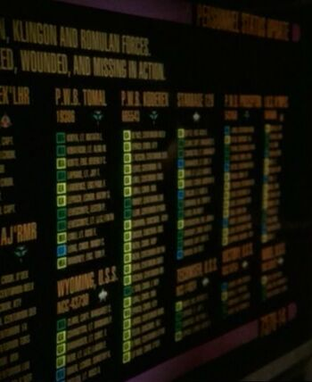 Display featuring <i>K'mpec</i> casualties