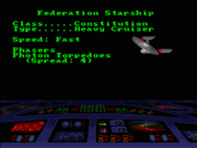 Constitution-Klasse, Datenblatt, Starship Bridge Simulator