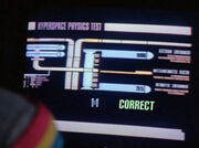 Hyperspace physics test