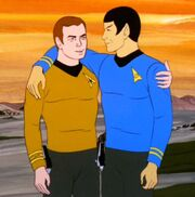 Kirk and Spock, best friends