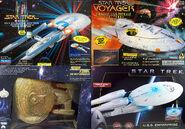 Playmates USS Excelsior Voyager Gold Enterprise-D Enterprise 2009