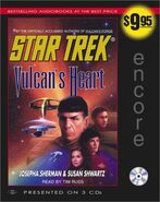 Vulcan's Heart audiobook cover, CD edition