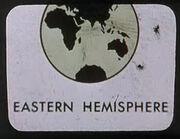 Carte Terre hémisphère oriental