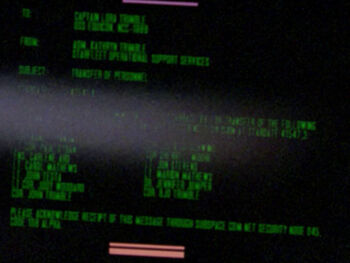 "Starfleet Command order received by the USS <i>Equicon</i> in <a href=""/wiki/2364"" title=""2364"">2364</a>."
