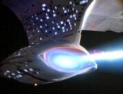 Enterprise feuert Deflektorimpuls