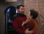 Kira runs into Riker
