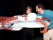 McKinley type studio model on stage at Image G prepared by model maker Dana White and effects supervisor Dan Curry